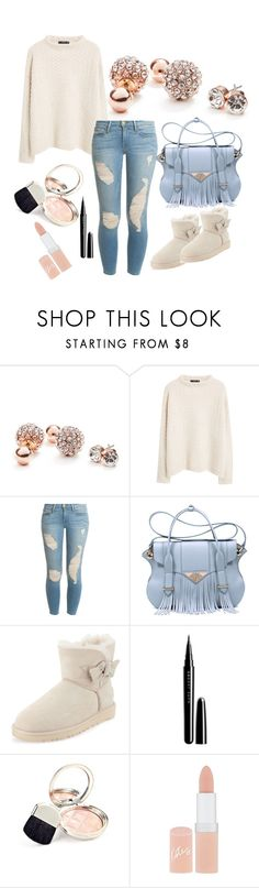 """""""Street style"""" by mediasky ❤ liked on Polyvore featuring mode, GUESS, MANGO, Frame Denim, Ella Rabener, UGG Australia, Marc Jacobs, By Terry en Rimmel"""