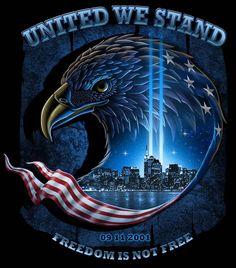 United We Stand Decal United We Stand! Check out our limited edition decal, honoring our country's first responders, public safety personnel, and those serving our military (past and present). These brave men and women stand guard every day to American Freedom, American Pride, American History, American Flag, Patriotic Pictures, Eagle Pictures, Eagle Images, I Love America, God Bless America