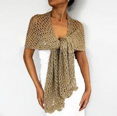 This Beige Evening Stole Shawl, Metallic Gold Long Scarf Shimmering Shiny Crochet Bridesmaids Dress Coverup Mother of Bride, Bridal Shoulder Wrap is just one of the custom, handmade pieces you'll find in our shawls & wraps shops. Crochet Bridesmaids Dresses, Metallic Yarn, Metallic Gold, Lace Shrug, Latte, Beige, Long Scarf, Knitted Shawls, Costume Dress