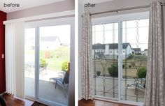 Before and after sliding doors: makeover and how-to from How to Nest for Less.
