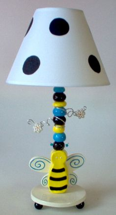 Bumble, bee, decor, for, kids, room, Bumble, bee, lamp, baby and kids lighting by All Kids Lamps.