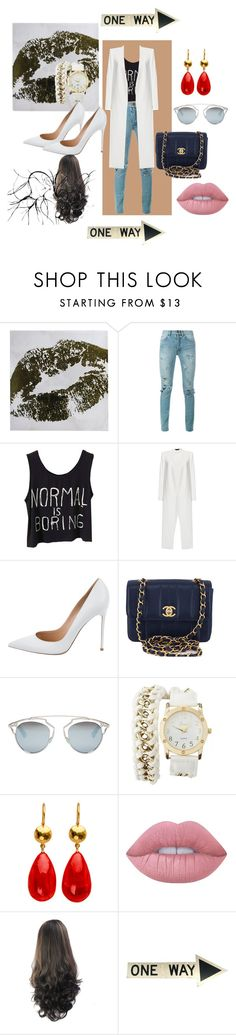 """Cool girl"" by dzenita-2190 on Polyvore featuring moda, Yves Saint Laurent, Alice + Olivia, Gianvito Rossi, Chanel, Christian Dior, Charlotte Russe i Lime Crime"