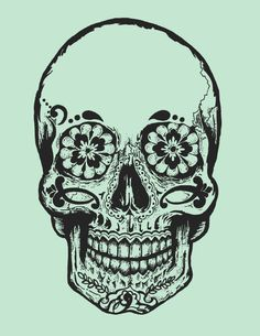 art indie Grunge tattoo skull. This is perfect for what I want on my half sleeve.