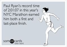 Paul Ryan's record time of 2:01:07 in this year's NYC Marathon earned him both a first and last-place finish.