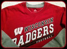 WISCONSIN BADGERS YOUTH XLARGE 18 ADIDAS LONG SLEEVE FOOTBALL TSHIRT #NCAA #WisconsinBadgers