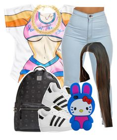 """ill be on here more . ☺️"" by clinne345 ❤ liked on Polyvore featuring MCM, adidas Originals, Yves Saint Laurent and Hello Kitty"