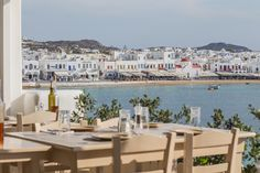 The view of Mykonos town from the restaurant! Such a beautiful sight!