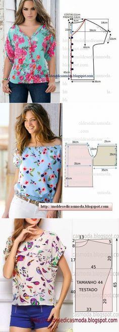 3eee937cc7fcd16 Летние блузки — легкий крой (Шитье и крой) — Журнал Вдохновение  Рукодельницы Летние Блузки