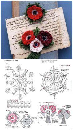 Beaded Flowers Patterns, Crochet Flower Patterns, Crochet Stitches Patterns, Flower Applique, Crochet Flowers, Stitch Patterns, Crochet Hooded Scarf, Knit Or Crochet, Irish Crochet