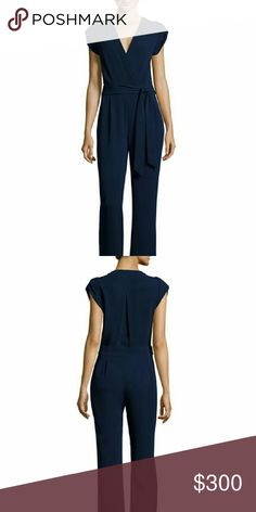 DVF Purdy Jumpsuit NWT Size 2 DVF Jumpsuit NWT Size 2 Never worn before, in brand new condition  DVF Purdy is a versatile jumpsuit with a flattering cap sleeve. With a deep v-neck, banded waist, and self-tie belt. Hidden side zip and hook and eye closure and pockets. Full length. Fit is true to size. A medium weight, textured stretch crepe with fluid feel. 73% Triacetate 27% Polyester Diane von Furstenberg Pants Jumpsuits & Rompers