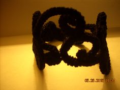 Crocheted cuff original design louisebdesigns