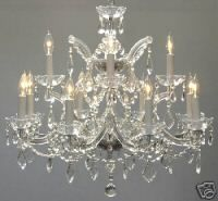 12 LIGHT MARIA THERESA CRYSTAL CHANDELIER - $342, 22 inches