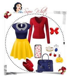 """Disney's Princess Snow White"" by krhymell ❤ liked on Polyvore featuring LE3NO, Prada, Casetify, Bling Jewelry, Annello and Van Cleef & Arpels"