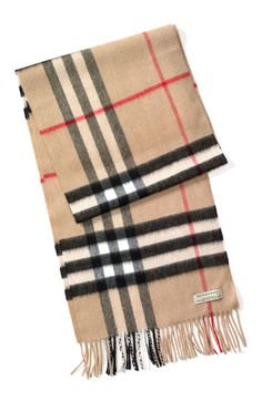 Classic luxury: Giant Burberry scarf that is so soft and cozy.