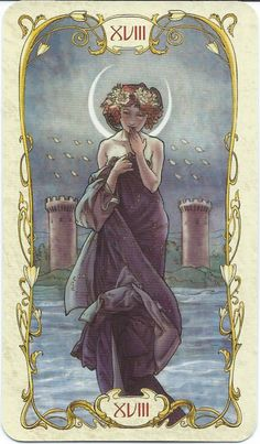 The Moon - Tarot Mucha