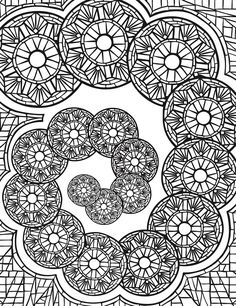 Welcome to Dover Publications Escapes Mosaics Coloring Book by Jessica Mazurkiewics Pattern Coloring Pages, Mandala Coloring Pages, Coloring Book Pages, Printable Coloring Pages, Coloring Pages For Kids, Coloring Sheets, Mosaic Patterns, Abstract Pattern, Color Patterns