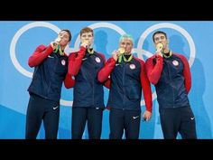 Ryan Lochte's silver dye job had turned a noticeable shade of green as he smiled on the podium with Michael Phelps, Conor Dwyer and Townley Haas on Tuesday night Usa Swim Team, Team Usa, 2020 Olympics, Summer Olympics, Olympic Sports, Olympic Games, Conor Dwyer, New Hair Look, Pool Chlorine