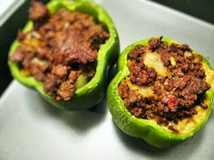 Simple Beef Stuffed Bell Peppers
