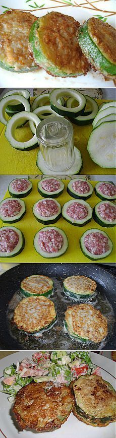 delicious recipes - Zucchini with minced meat in batter, cook with love Easy Cooking, Cooking Recipes, Healthy Recipes, Delicious Recipes, Good Food, Yummy Food, Tasty, Appetisers, Food Design
