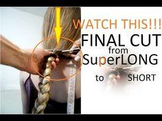 BLONDE HAIR FOR SALE! Watch this hair getting Cut! THIS SCANDINAVIAN NAT...