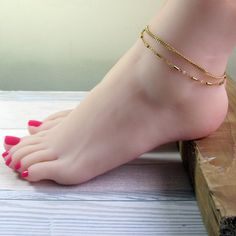 Inspiring Reasons I Love Jewelry Ideas. Intoxicating Reasons I Love Jewelry Ideas. Gold Anklet, Anklet Jewelry, Anklet Bracelet, Anklets, I Love Jewelry, Body Jewelry, Beautiful Toes, Sexy Toes, Women's Feet