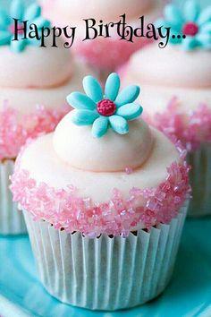 Cupcake Daisy Cupcakes Sparkly Summer Kids Birthday Baby Shower