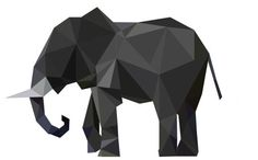 Polygon Elephant  Vector Illustration