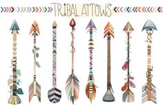 121 pc Tribal Vector Clipart Bundle by Kenna Sato Designs on @creativemarket