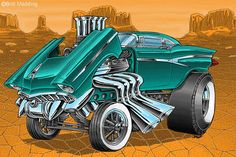 Ford Gasser by on DeviantArt Cartoon Pics, Cartoon Drawings, Cartoon Art, Cars Cartoon, Art Drawings, Weird Cars, Cool Cars, Ed Roth Art, Cool Car Drawings