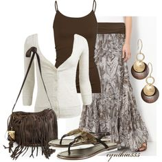 Maxi Skirt, created by cynthia335 on Polyvore
