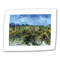 @Overstock - Artist: Vincent VanGogh  Title: Green Vineyard  Product type: Wrapped Canvashttp://www.overstock.com/Home-Garden/VanGogh-Green-Vineyard-Flat-Canvas-Art/7550207/product.html?CID=214117 $27.99