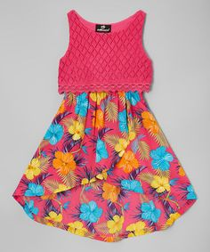 Look what I found on #zulily! Pink Floral Hi-Low Dress - Infant, Infant, Toddler & Girls #zulilyfinds