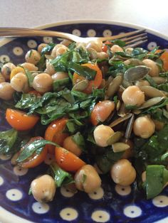 Chickpea & Spinach Salad  Ridgetop Farm: Day 1 Detox Lunch