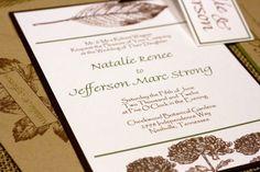Leaf Botanical Natural Rustic Wedding by ForgetMeKnotPaperie,