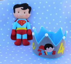 Corona Superheroe cumpleaños regalo niño superman by Pittitus
