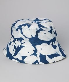 Global Mamas Blue Fish Bucket Hat 99270f069882