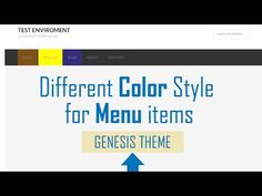 How to make each Menu item of different color in Genesis