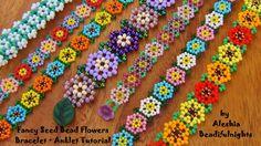 Fancy  Flowers Bracelet ~ Seed Bead Tutorials