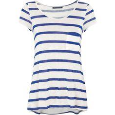 Velvet Millicent Striped Jersey T-Shirt ($115) ❤ liked on Polyvore