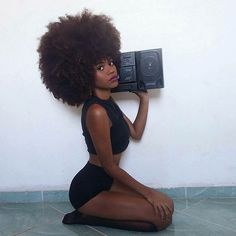 AFRO OF THE DAY #1186 pictured: Mariana Santos  #afro #black #natural #hair