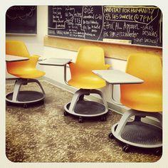 Spinning chairs & desks @ Evans Hall