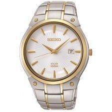 online shopping for Seiko Men's Two-Tone Solar Calendar Dress Watch from top store. See new offer for Seiko Men's Two-Tone Solar Calendar Dress Watch Seiko Solar, Solar Watch, Seiko Men, Seiko Watches, Silver Man, Stainless Steel Bracelet, Jewelry Stores, Watches For Men, Wrist Watches