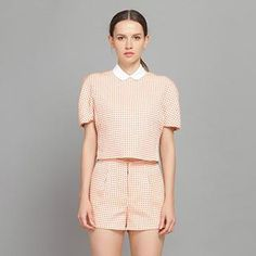 Buy 'YiGelila – Set: Dotted Top   Cropped Shirt   Dotted Shorts' with Free International Shipping at YesStyle.com. Browse and shop for thousands of Asian fashion items from China and more!