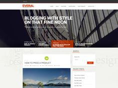 Everal is a powerful, feature-rich WordPress theme that lets you customize a wide variety of features from the comfort of your Dashboard. Features: Fully - posted under by Fribly Editorial Wordpress Theme, Layout, Ads, Templates, Design Development, Blog, Free, Image, Web Design