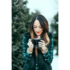 Chic Wish fur vest with plaid. making me miss my ombre & my pink