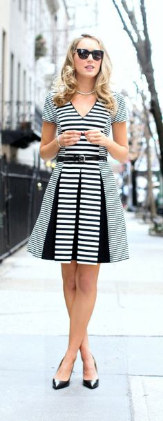 mesmerizing #style (literally) and definitely an eye catcher on the streets of LA - Mixed Stripes