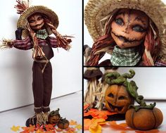 While waiting for Halloween to come i transformed a Monster High Barbie Cleo de Nile into this scarecrow. Everything is handmade by me, just the…