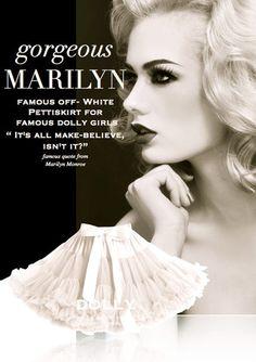 DOLLY by Le Petit Tom ® MARILYN MONROE pettiskirt off-white