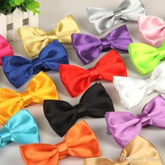 30 colors Man Women Bow Ties Neckwear bowties Wedding Bow Tie solid Neck Tie for business suit Christmas gift 210042