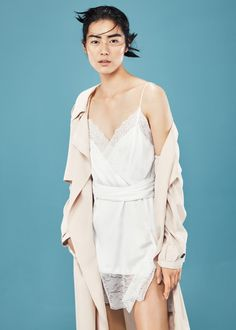 Lace appliqué dress - Dresses for Women | MANGO USA